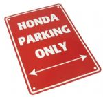 Parking Sign - Honda Parking Only